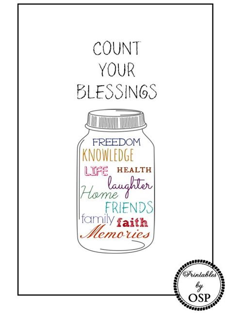 printable happy jar quotes count your blessings clip art 39