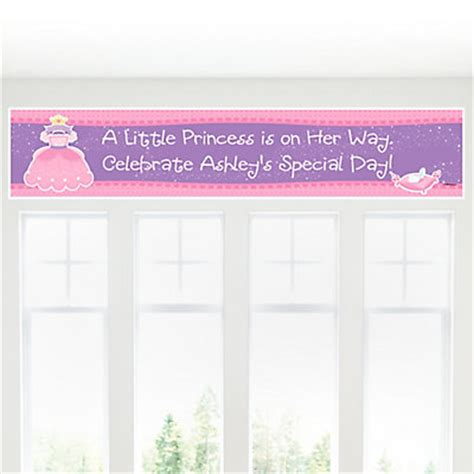 Princess Baby Shower Banner by Pretty Princess Personalized Baby Shower Banners