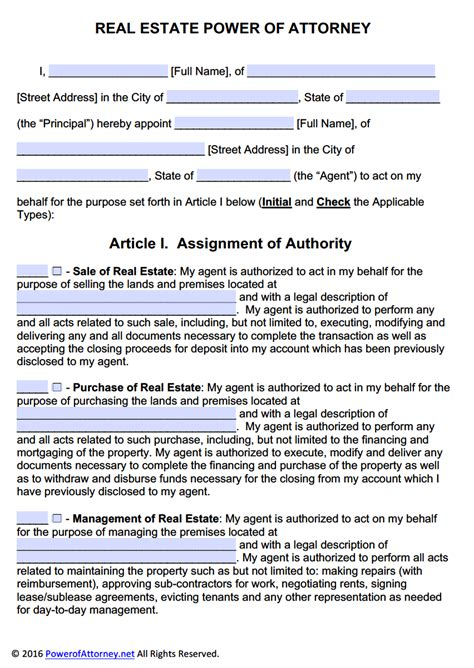 real estate power  attorney form  templates power  attorney power  attorney