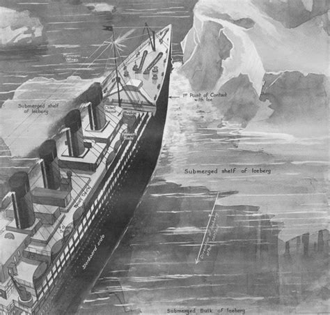 imagenes historicas del titanic fotos hist 243 ricas titanic choca con el iceberg titanic