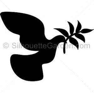 peace dove silhouette