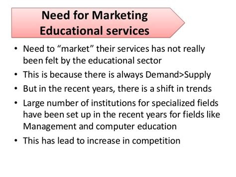 Marketing Education by Marketing Of Educational Services