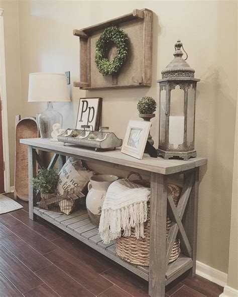 entryway furniture best 25 rustic sofa tables ideas on pinterest sofa