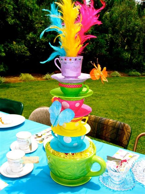 Whimsical Alice In Wonderland Mad Hatter Tea Party Tea Cup Mad Hatter Tea Centerpieces