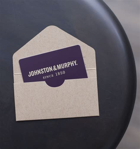 traditional gift card johnston murphy - Johnston And Murphy Gift Card