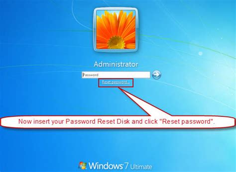 reset password windows 7 reset disk how to create windows 7 password reset disk with usb