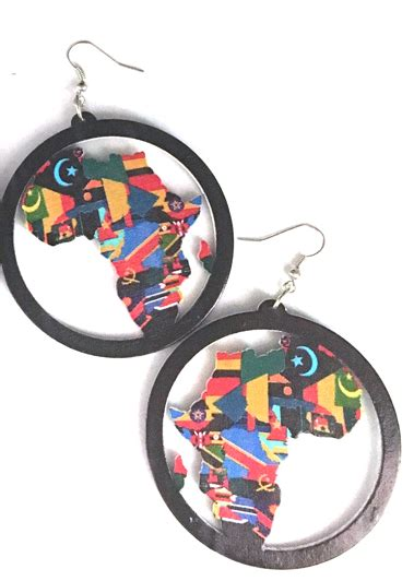 colors of africa afrocentric and hair earrings