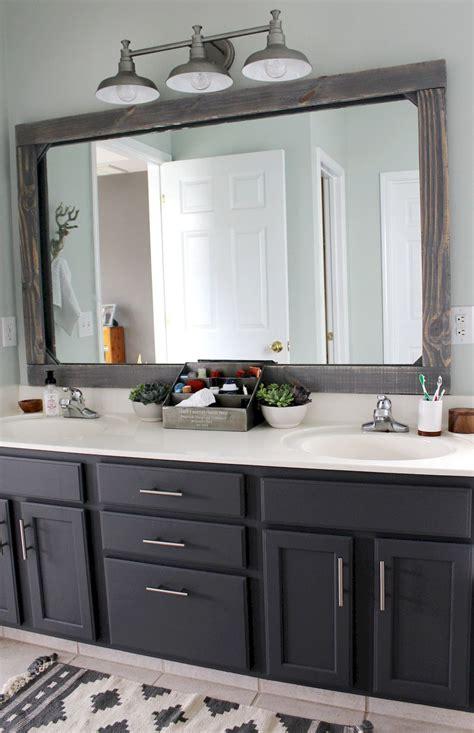 diy bathroom mirror remodel 50 rustic farmhouse master bathroom remodel ideas 5 roomadness
