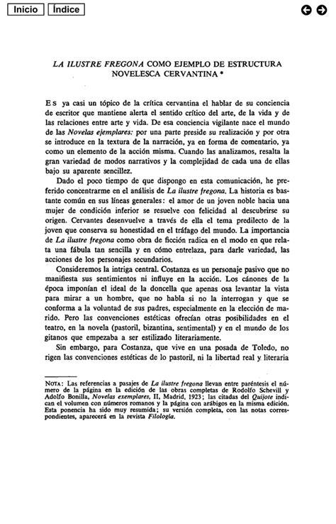 """pdf """"La ilustre fregona"""" como ejemplo de estructura novelesca"""