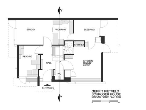 holland hall floor plan ad classics rietveld schroder house gerrit rietveld archdaily