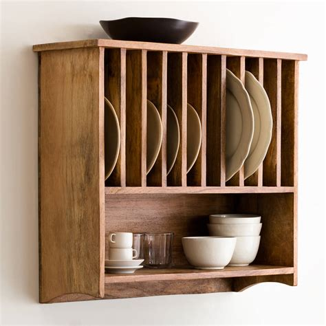 Kitchen Pot Rack Ideas Furniture Creative Wall Mounted Cherry Wood Plate Racks