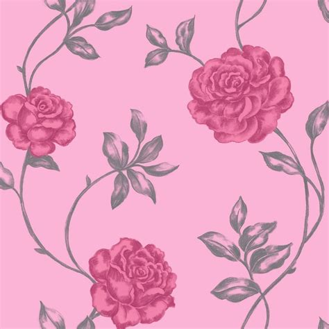 pink queen wallpaper queen rose candy pink wallpaper by crown cwv m0523