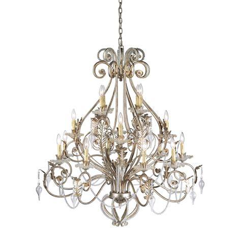 Silver Chandelier Eurofase 14586 019 16 Light Chandelier In Antique Silver Homeclick
