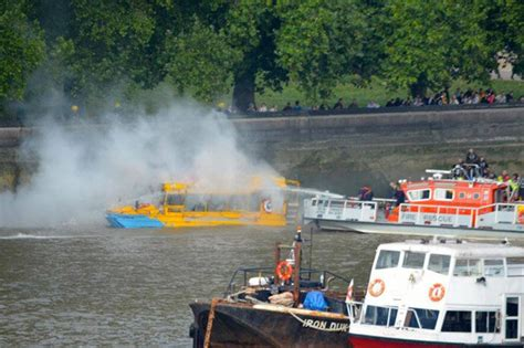 duck tour boat fire london company suspends duck boat tours after boat catches fire