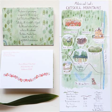 Unique Fold Out Wedding Invitations by Mays Projects Illustration And Stationery Mad On Creative