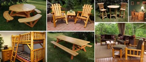 How To Make Log Furniture by Wood Work Rustic Log Outdoor Furniture Pdf Plans