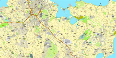 printable city road maps auckland new zealand printable map exact vector street