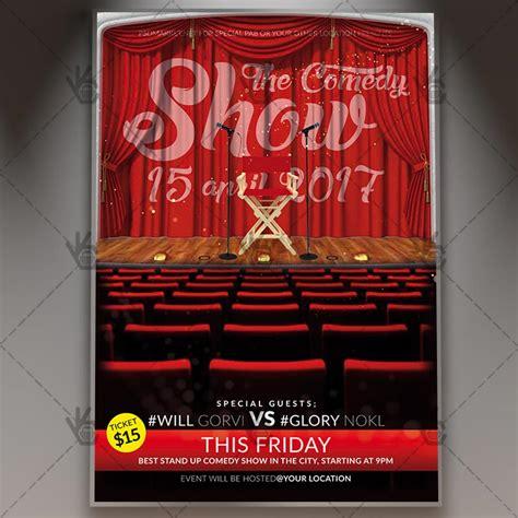 comedy show premium flyer psd template psdmarket