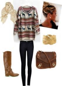 a casual fall winter day with big oversized sweater and