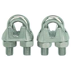 Photo Clips Wire 2 Piece 1 4 Quot Wire Rope Clips