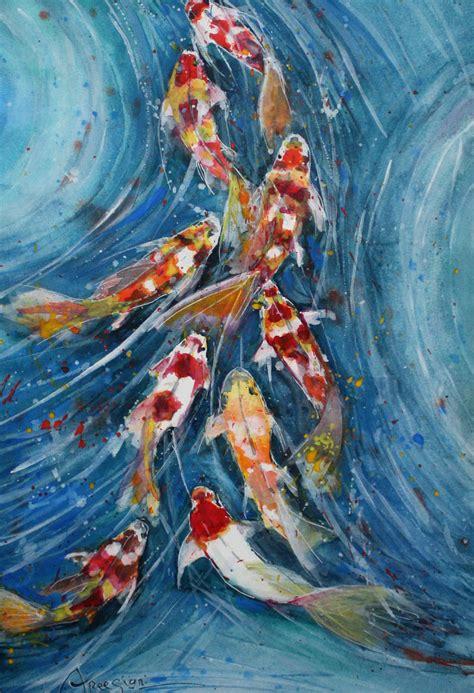 koi fish  paintings  sale