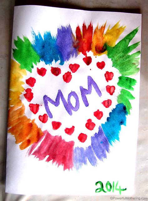 mothers day cards for children to make simple s day card