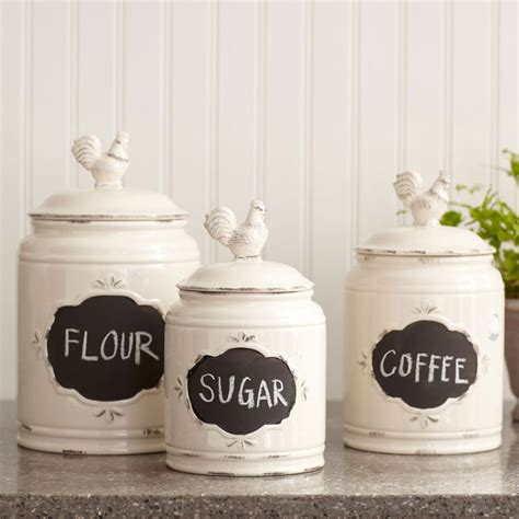 Tuscan Style Kitchen Canister Sets by Decorative Kitchen Canisters And Jars