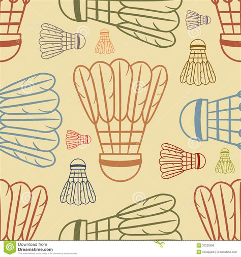 pattern more than badminton meaning shuttlecock pattern background sport royalty free stock
