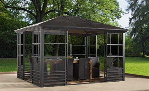 Britania 10 x12 charcoal 77 hard top screen house solarium aluminum structure 8mm