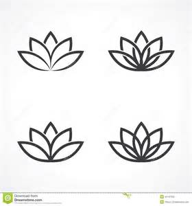Lotus Simple Lotus Symbol Stock Vector Image 44147055