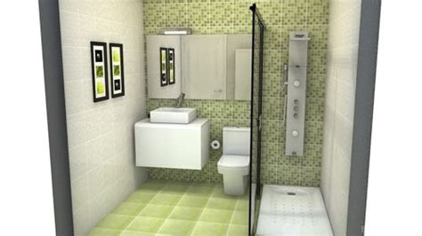 decoracion de baños pequeños elegantes colores azulejos ba 241 o