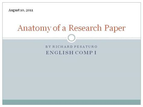 anatomy of a research paper ppt on research paper 28 images ppt research paper vs