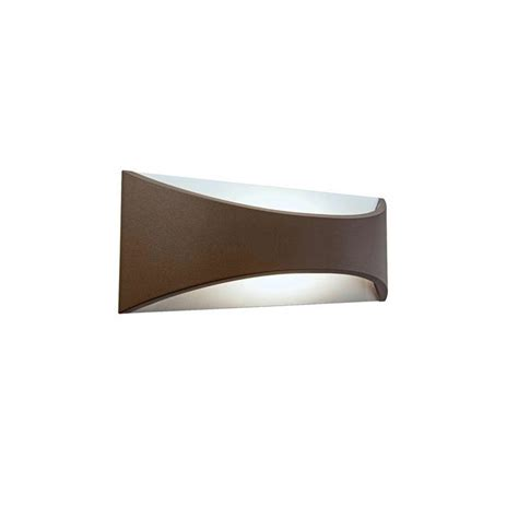 applique interno applique led moon marrone design esterno interno lo