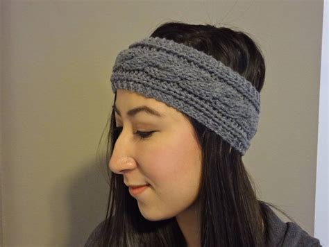 knitted headband cable knit headband pattern archives lil bit