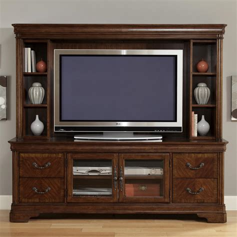 entertainment tv stand hutch by liberty furniture wolf