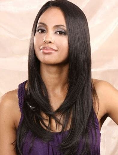 boutique layered wig for african american graceful boutique long straight layered lace front cap