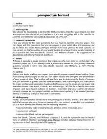 Research Paper Prospectus Sample Images Images Citation Machine Mla Format Citation
