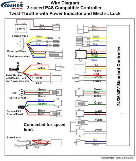 electric bicycle throttle wiring diagram get free image