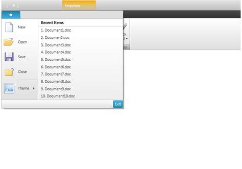 menu design wpf application menu ribbon wpf