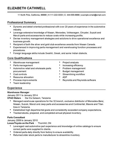 Automotive Sales Consultant Sle Resume by Car Sales Consultant Description Resume Resume Ideas