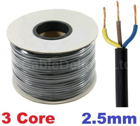 Lantai Vinyl 2 Mm 100rbm 3 2 5mm 25 pvc cable 1m 100m flex electrical wire black ebay