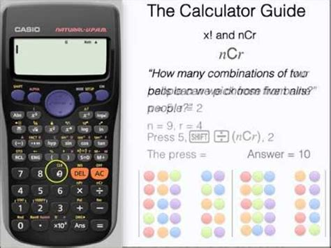 calculator factorial how to use ncr on a calculator the factorial function x
