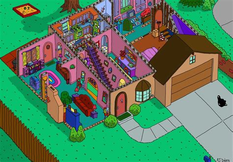 the simpsons floor plan simpson s house cutaway of the bottom floor pics