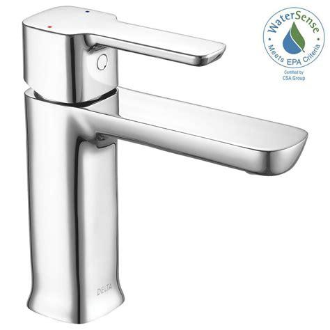 shop delta nyla stainless 1 handle single hole watersense delta trinsic single hole single handle bathroom faucet