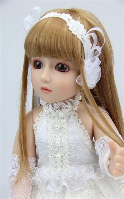 Boneka Princess 45cm New Vinyl Sd Bjd Joint Doll Boneka 18inch 45cm reborn ᗑ baby baby doll jointed doll bjd