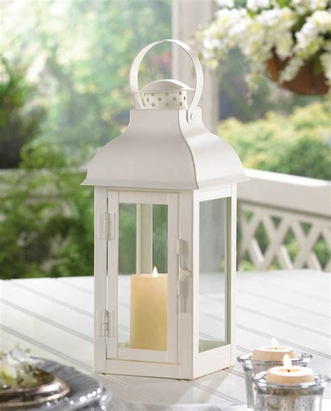 home decor cheap medium white gable lantern wholesale at koehler home decor