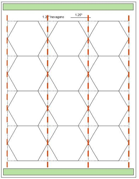 download hexagon templates in various sizes hexagons