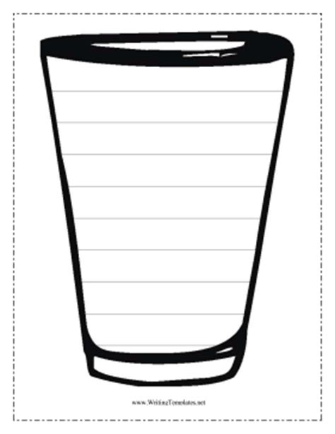 Cup Writing Template Writing Template Cup Template Printable