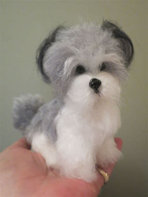 gray havanese havanese gray and white by designs by at the shoppe
