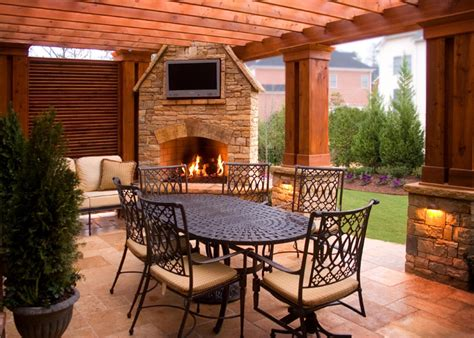 backyard living space outdoor living space boyce design contracting
